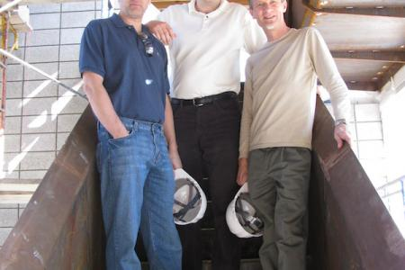 """The hatless Texans"" -- Jeff, Josh and Keith"