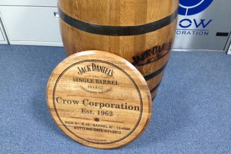 Crow bought a barrel of Jack Daniels whiskey, right out of the distillery in Lynchburg, TN, to share with its customers